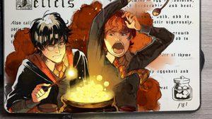"""หนังสือฝึกเรียนเวทมนตร์ """"แฮร์รี่ พอตเตอร์"""" ฉบับการ์ตูน"""