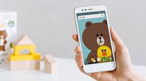 LINE เผยโฉมสมาร์ทโฟน LINE Friends มาพร้อมมีหมีบราวน์เอาใจสาวก
