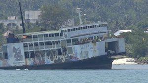 หวาดเสียว!! เรือเฟอร์รี่เกาะพะงัน เกยสันดอนทราย ร่องน้ำใต้ทะเล