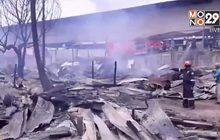 ไฟไหม้ห้องพักคนงานเสียหายกว่า 100 ห้อง