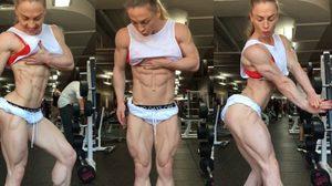 ต่อไปคงไม่มีข้ออ้างในการออกกำลังกาย นักเพาะกายหญิงไขมันในร่างกาย 0%