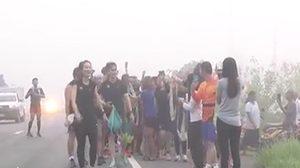 ตูน บอดี้สแลม เริ่มวิ่งวันที่ 7 ฝ่าหมอกหนา ขณะยอดบริจาคกว่า 93 ล้าน