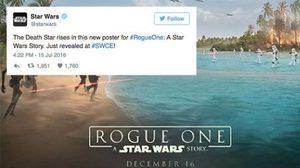 อยากดูแล้ว! ทวิตเตอร์ Star Wars ปล่อยภาพโปสเตอร์ล่าสุดจาก Rogue One