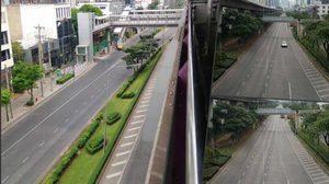 รวมภาพหาชมยาก ถนนใน กรุงเทพฯ โล่งจนผิดหูผิดตา