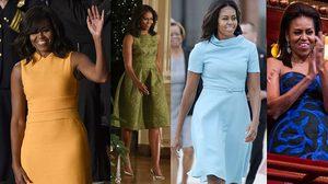 ส่องสไตล์แฟชั่น สตรีหมายเลขหนึ่ง มิเชล โอบาม่า สาวผิวสี กับ ชุดสีสด ผิวสีไหน ใส่ก็สวย