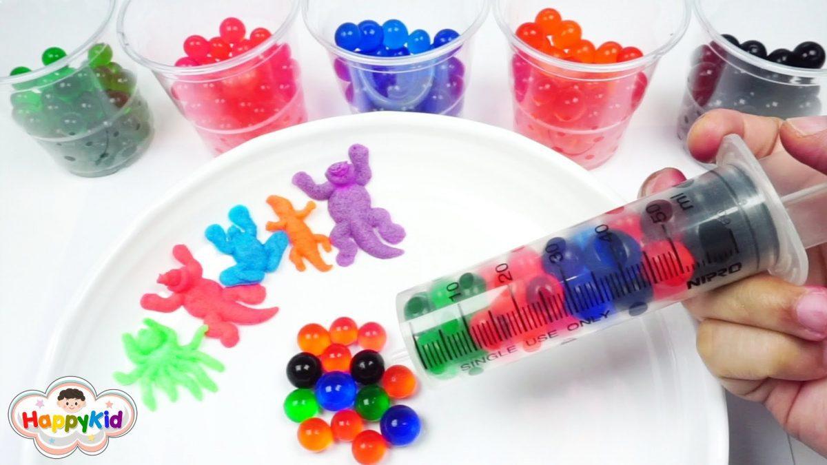 เล่นเบบี้คริสตัล | เรียนรู้สีภาษาอังกฤษ | ฟักไข่ไดโนเสาร์ | Learn Color With Orbeez Growing In Water