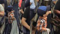 ภาพเรียกรอยยิ้ม Guy หนูน้อยวัย 2 ขวบ เดินชนกำปั้นทุกคนก่อนเครื่องขึ้นบิน