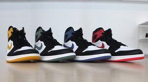 Air Jordan 1 Black Toe คอลเลคชั่นใหม่ 4 สี 4 สไตล์ เพื่อสดุดีแก่ Michael Jordan