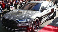 Audi A8 ใหม่ อำพรางด้วยลายกราฟิกชวนปวดหัว