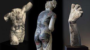 มีความโฉด! ศิลปินอิตาเลียนเพิ่มรอยสักสุดเก๋าให้กับรูปปั้นนู้ดแบบเนียนๆ