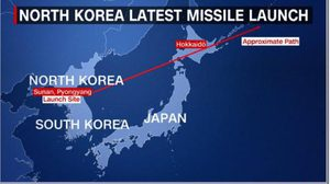 เกาหลีเหนือ จัดหนัก ทดสอบยิงขีปนาวุธ ข้ามแผ่นดินญี่ปุ่น
