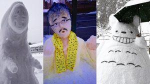 งานครีเอต!! ตุ๊กตาหิมะ หลากหลายแบบที่ประเทศญี่ปุ่น