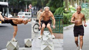 ปู่สุดฟิตออกกำลังกายท้าลมหนาว 72 ปี แต่ความฟิตเหมือนเบญจเพส