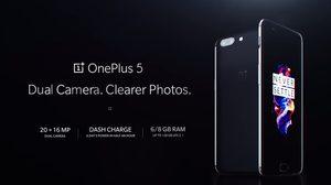เปิดตัวเป็นทางการแล้ว OnePlus 5 มาพร้อมกล้องคู่ตัวเทพและแรม 8GB