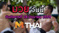 โปรแกรมมวยไทยวันนี้ วันอังคารที่ 28 มิถุนายน 2559