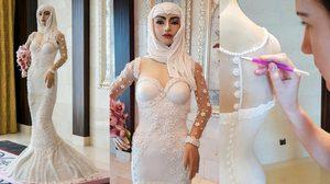 อลังการงานสร้าง เค้กแต่งงาน 30 ล้านบาท ตกแต่งด้วยเพชรแท้ สวยจนไม่กล้ากิน