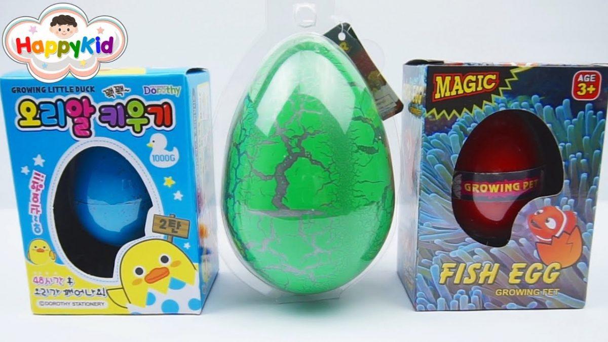 ฟักไข่ไดโนเสาร์ยักษ์ ไข่ลูกเป็ด และไข่ปลานีโม | เรียนรู้สี | Surprise Egg Growing Pets