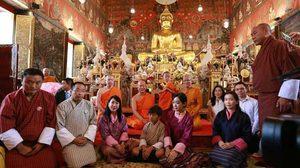 น่ารัก! ลามะน้อย เจ้าชายแห่งภูฏาน เสด็จฯ เยือนวัดสระเกศ
