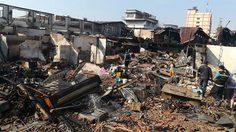 กองพิสูจน์หลักฐาน ตรวจไฟไหม้ชุมชนตากสิน23 – ตั้งศูนย์ช่วยผู้ประสบภัย