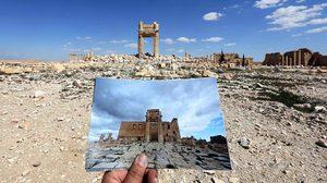 ซากเมืองหลังสงคราม ภาพเปรียบเทียบก่อนหลังสงคราม จาก Syria