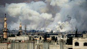 กบฎซีเรียจู่โจมกองกำลังรัฐบาล แถบชานเมืองหลวง