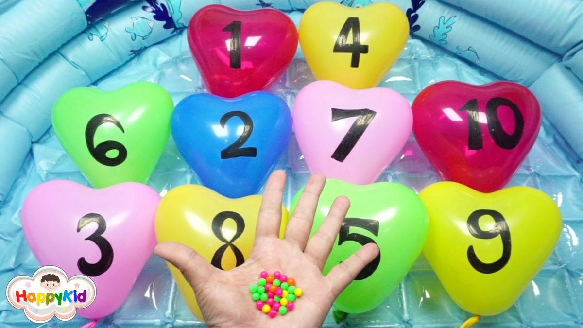 เพลง นิ้วโป้งอยู่ไหน #3 | เจาะลูกโป่งตัวเลข | เรียนรู้เลข 1-10 | Thai Finger Family Song