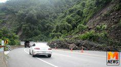ดินหินถล่มปิดถนนทางหลวง อ.เขาค้อ จ.เพชรบูรณ์ หลังฝนตกหนัก !!