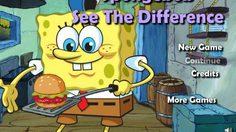 เกมส์จับผิด Spongebob See The Difference