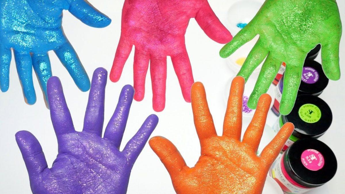 เพลงนิ้วโป้งอยู่ไหน | ระบายสีมือ | เรียนรู้สี | Learn Color In Thai With Hand Painting