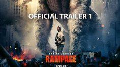 จะเอาอะไรไปสู้!! เดอะร็อก รับมือกับกอริลลา หมาป่า และจระเข้ยักษ์ ในตัวอย่าง Rampage