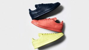 Adidas Originals x Raf Simons Stan Smith แฟชั่นรองเท้าโทนพาสเทลสบายตา