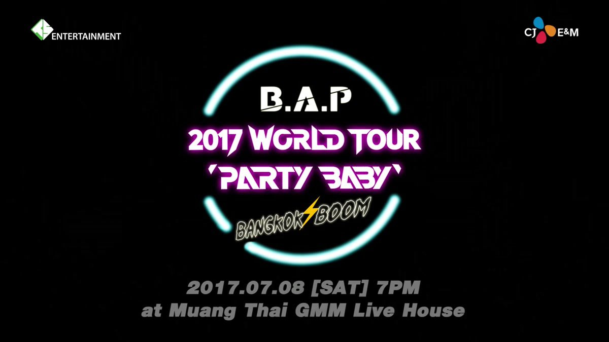 เบบี้ไทย พร้อมไหม? เตรียมปาร์ตี้กับหกหนุ่ม B.A.P 8 กรกฎาคมนี้