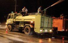 รถบรรทุกเอทานอลพลิกคว่ำไร้เจ็บ จ.ปราจีนบุรี