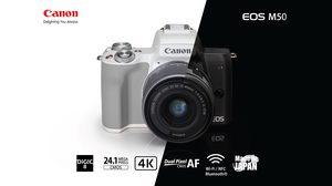 Canon เผยโฉม EOS M50 กล้องมิเรอร์เลสใหม่ล่าสุดในซีรีส์ M มาพร้อมระบบกันสั่น 7 แกน