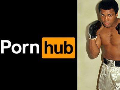 Pornhub สดุดี มูฮัมหมัด อาลี ด้วยการ เปลี่ยนโลโก้เว็บไซต์ตัวเองชั่วคราว