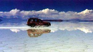 ทะเลเกลือ Salar de Uyuni ที่ใหญ่ที่สุดในโลก ที่ โบลิเวีย