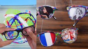 D.I.Y วิธีเปลี่ยนแว่นตาเก่า เป็น กรอบรูป เก๋ๆ