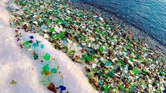 """""""Ussuri Bay"""" ธรรมชาติเปลี่ยนเศษแก้ว ให้กลายเป็น ชายหาดกรวดหลากสีสัน!"""