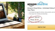 ว้าว !!!  Amazon ลดราคาพื้นที่ Cloudแบบไม่จำกัด เหลือเพียง 5 เหรียญสหรัฐ