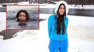 เห็นแล้วหนาวแทน!! สาว ยูเครน เผยเคล็ดลับความสวยด้วยวิธีสุดห่ามที่เย็นไปถึงกระดูกดำ