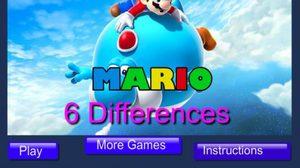 เกมส์จับผิดภาพ Mario 6 Differences