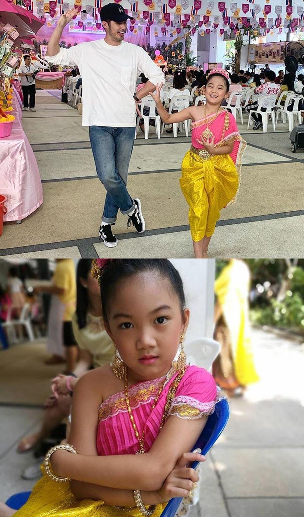 ชุดไทยงานโรงเรียน น้องวันใหม่ น้องสาว เฮียบอย ปกรณ์