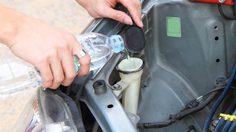 น้ำฉีดกระจกรถ หากหมดควรใช้น้ำเปล่า หรือใช้น้ำผสมน้ำยา?