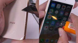 แกร่งพอตัว!! ทดสอบ iPhone 8 แบบฮาร์ดคอร์ มีดกรีด เผาไฟ