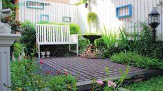 ห้องนั่งเล่นกลางสวน ไอเดียแต่งสวนสวยเพื่อพักผ่อน