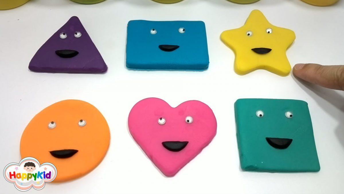 เรียนรู้รูปทรง | ปั้นแป้งโดว์ | ปั้นดินน้ำมัน | Learn Shapes With Play-Doh
