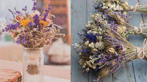 วิธีการทำ ดอกไม้แห้ง น่ารักๆ
