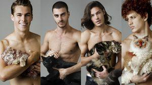 ภาพถ่ายแฟชั่น หนุ่มหล่อกับแมว หล่อระทวย+น่ารักกระชากใจสาวๆ แบบสุดๆ