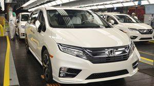 Honda เตรียมเริ่มสายพานการผลิต  2018 Honda Odyssey เเล้ว