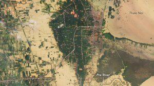 เปิดภาพจากดาวเทียมนาซ่า ขณะพัทลุงถูกน้ำท่วมหนัก